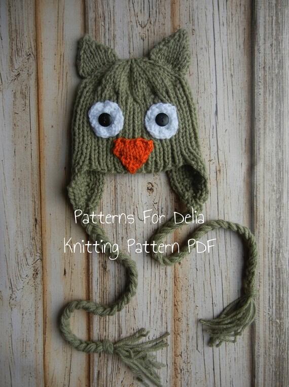 Owl Hat Knitting Pattern Newborn Baby Toddler Child Animal Etsy