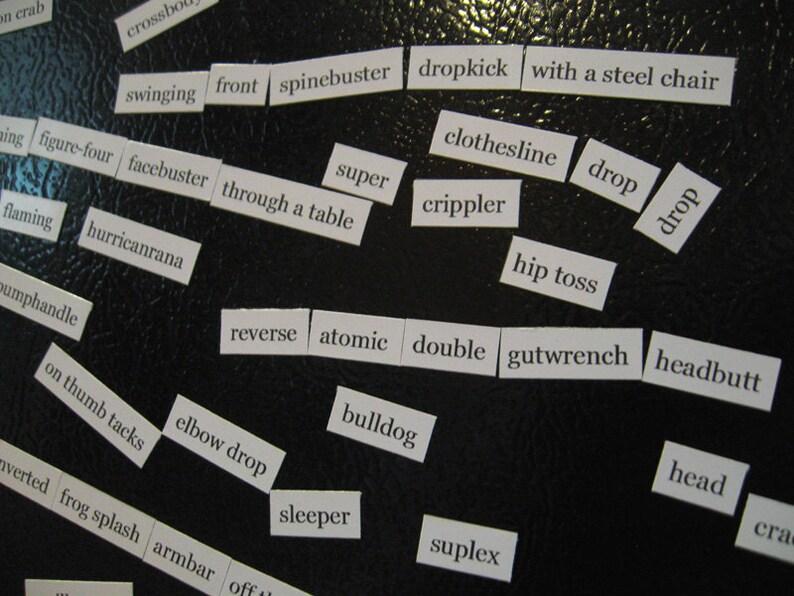 Pro wrestling magnet poetry / 1005 Holds image 0