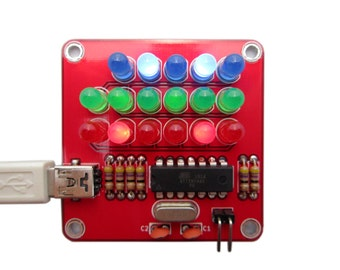 Pure Binary Clock Kit with Red, Green and Blue Lights