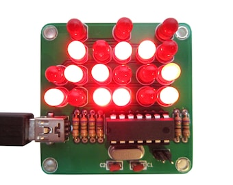 Binary Clock Kit with Red Lights