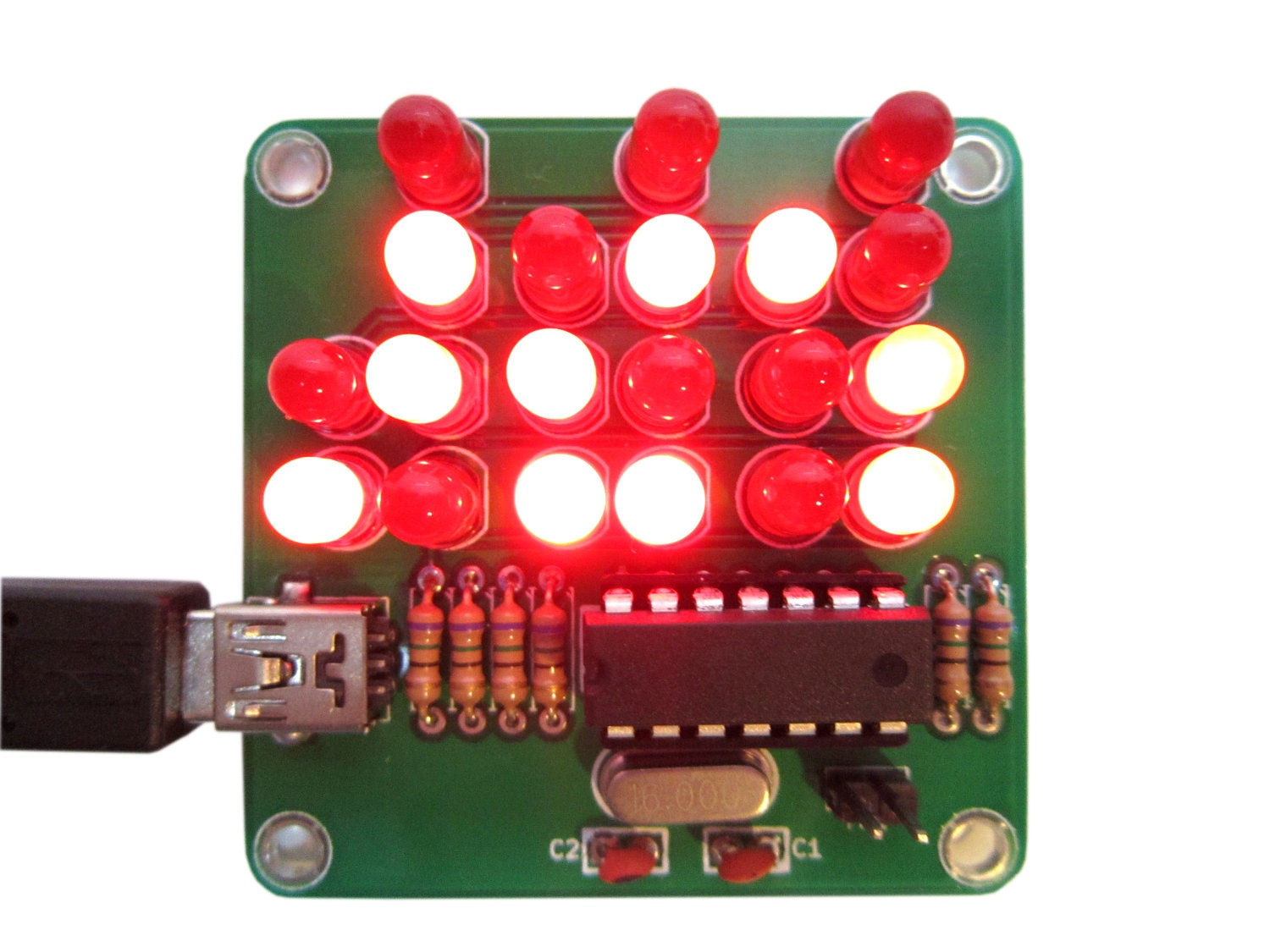Binary Clock Kit With Red Lights Etsy 24hour Digital And Timer Circuit