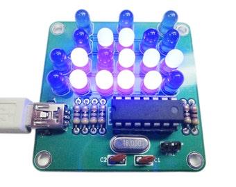 Binary Clock Kit with Blue Lights