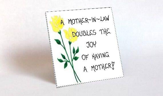 Cadeau Voor Schoonmoeder Citeer Moeder Van Echtgenoot Andere Moeder Gele Bloem Green Leaf Design