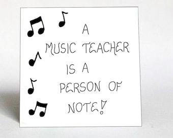 Music Teacher Quote Magnet