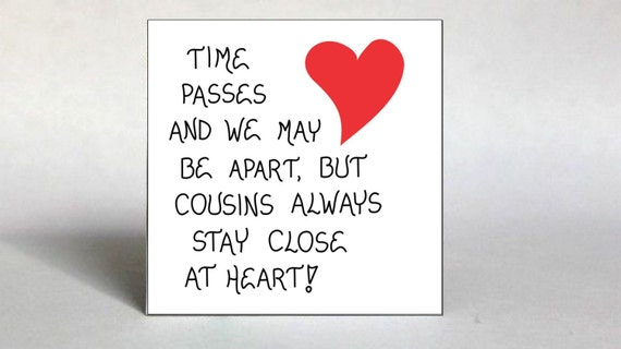 Quote About Cousins Fridge Magnet Close Relatives Best Etsy Cool Valentines Day Quotes For Cousins