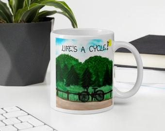 Quote about Cycling Mug