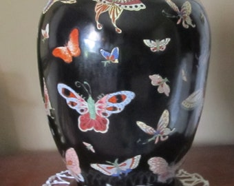 45% off  Vintage handpainted Chinese Ginger jar with stand