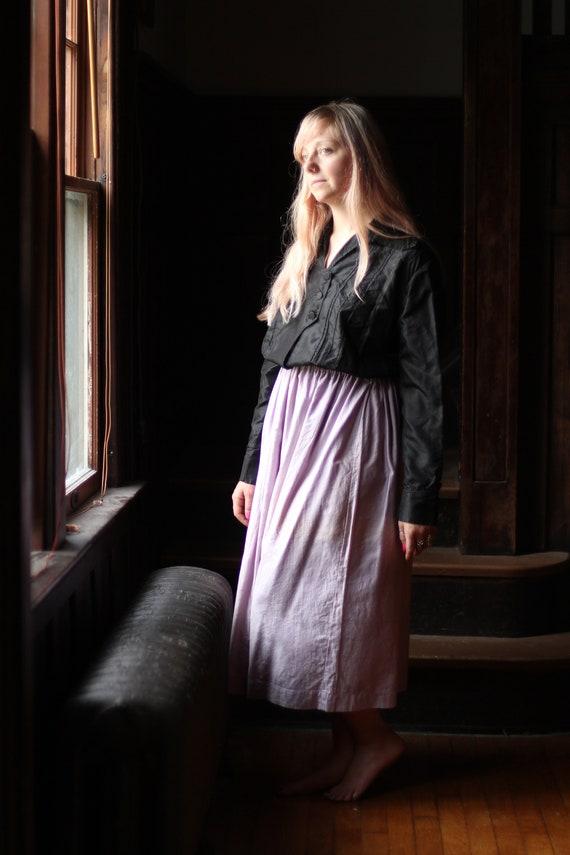 Antique Victorian Silk blouse Small Medium black … - image 8