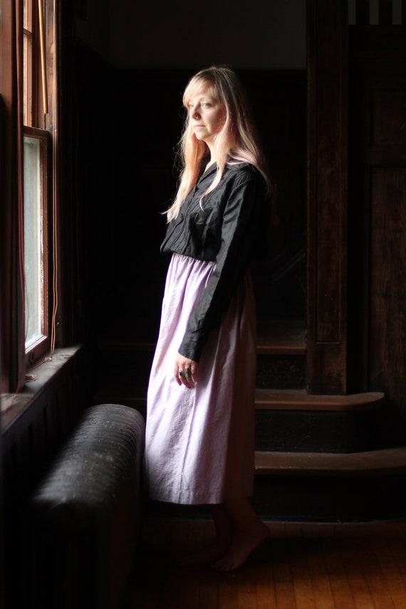 Antique Victorian Silk blouse Small Medium black … - image 2