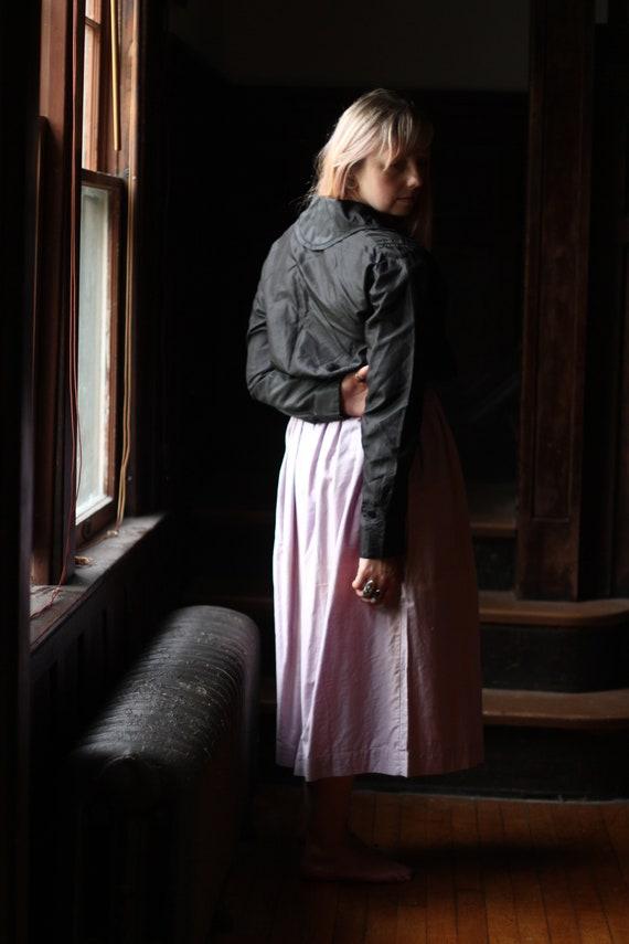 Antique Victorian Silk blouse Small Medium black … - image 9
