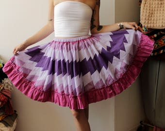 AMAZING Vintage Square Dance skirt- Small