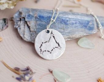 Capricorn Necklace - Zodiac Necklace - Constellation Necklace - Capricorn Birthday - Capricorn Gift