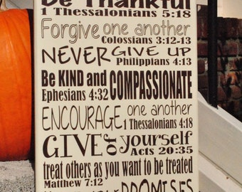 """Family Rules with bible verses 12""""x24"""""""