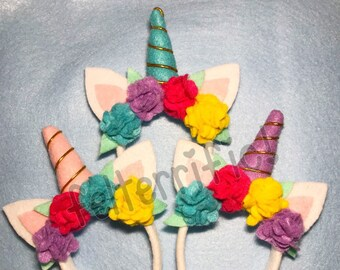 "DOLL SIZE Unicorn Headbands- Fits Most 18"" Dolls"