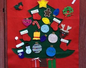 Handmade Christmas Tree Holiday Countdown Advent Calendar
