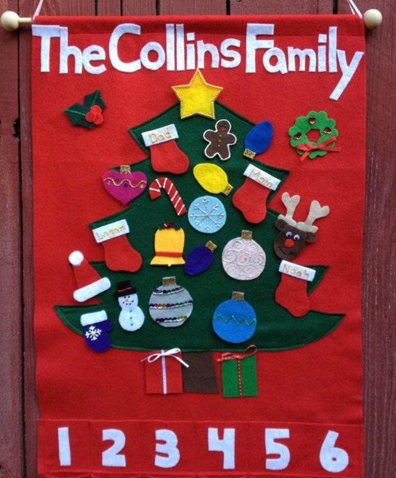 Handmade Christmas Tree Holiday Countdown Advent Calendar Etsy