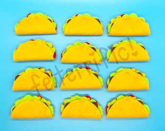 Handmade Felt Mini Taco Ornaments