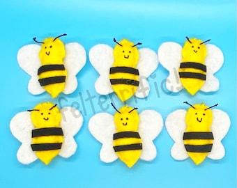 Handmade Felt Mini Bee Ornaments