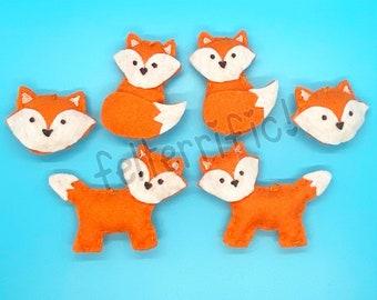 Handmade Felt Mini Fox Ornaments