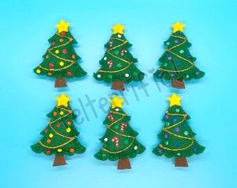 Handmade Felt Mini Christmas Tree Ornaments