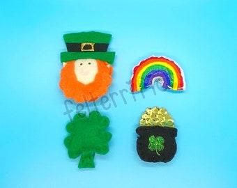 Handmade Felt Mini St Patricks Day Leprechaun Ornaments