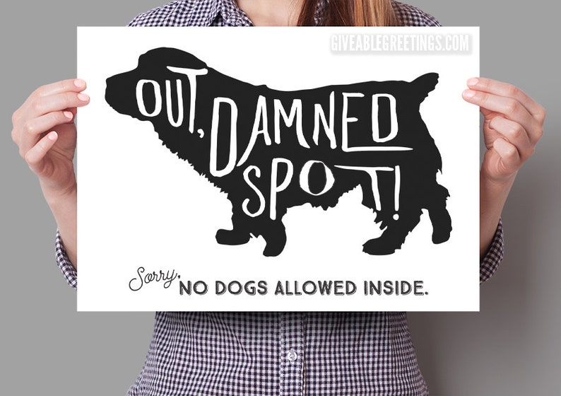 No Dogs Allowed  Funny Retail store Sign  Shakespeare image 0