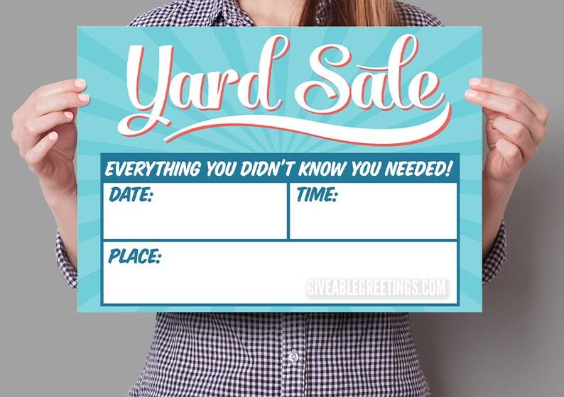 Original Yard Sale Sign  Double Sided Corrugated Plastic  image 0