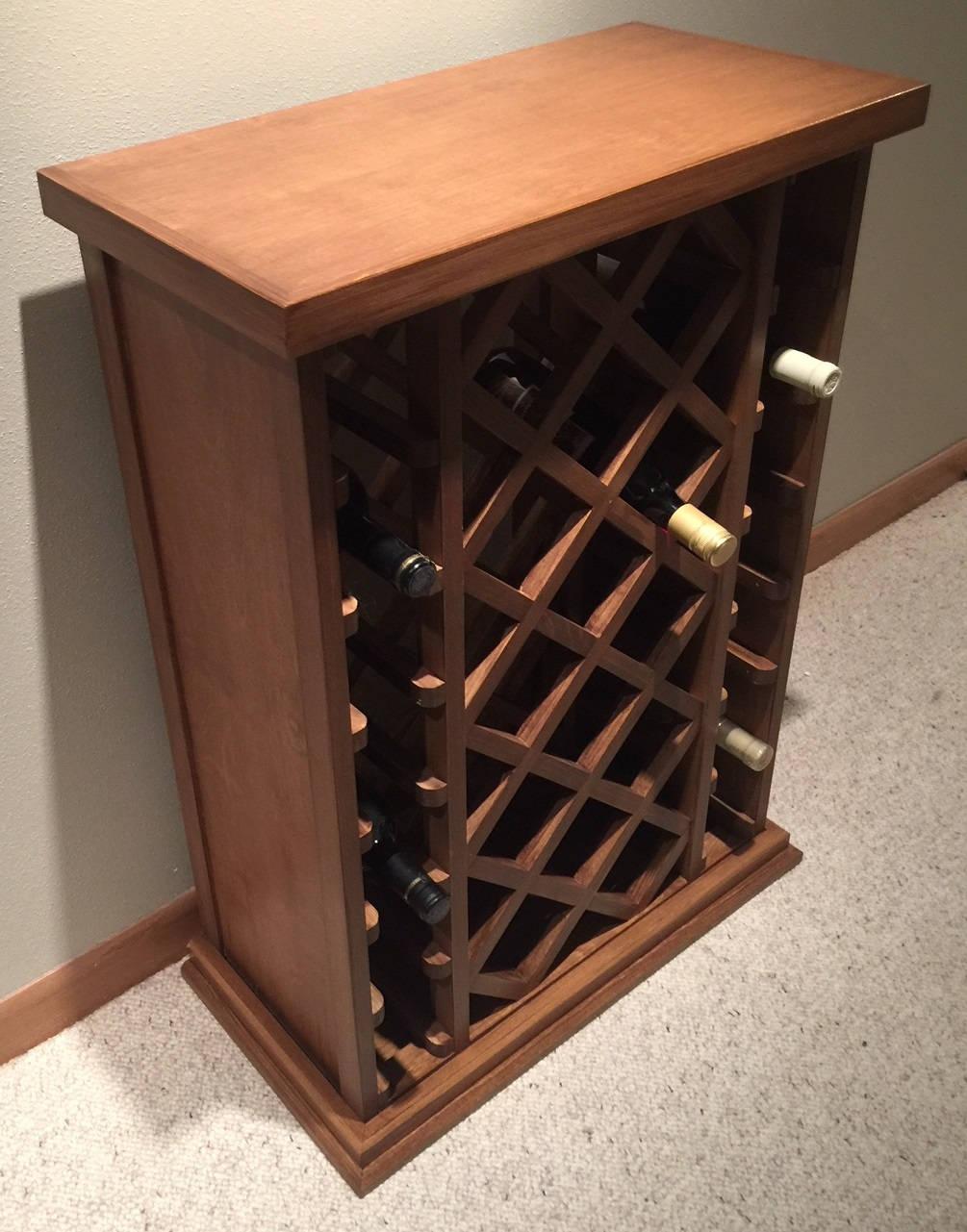 28 Bottle Lattice Style Wine Rack Stained Etsy