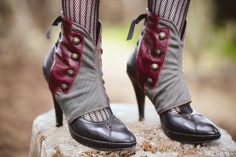Women's Steampunk Spats -Danae