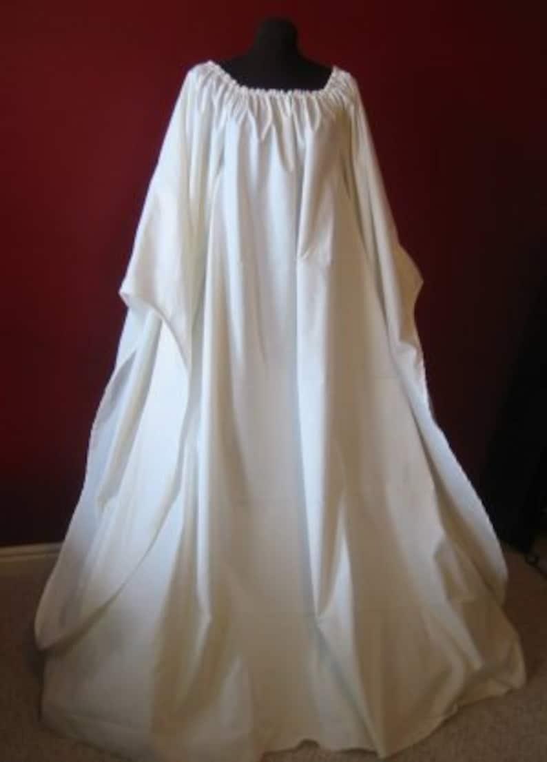 100% cotton Full-length Beautiful Angel Chemise