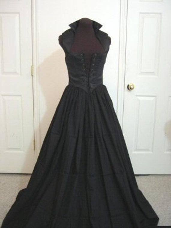 Black Renaissance Bodice And Skirt Dress Or Costume Set Made Etsy