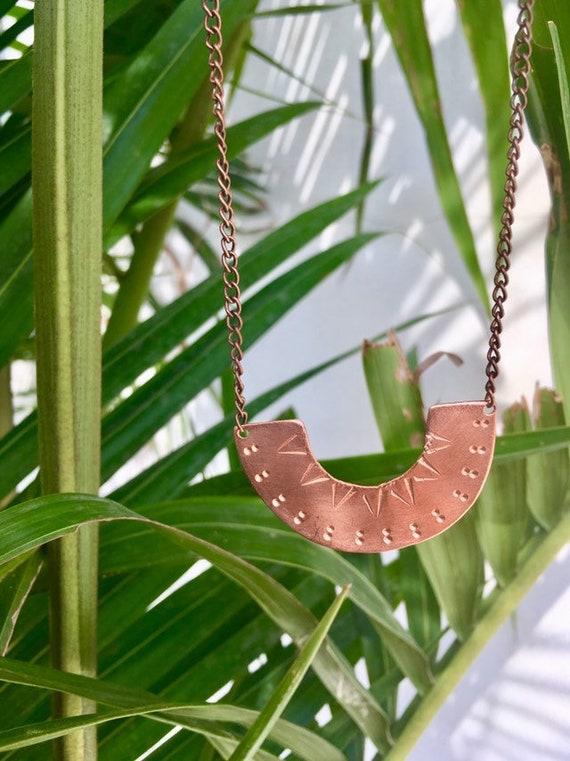 Hammered copper U