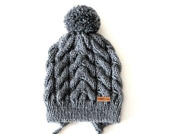 Boho Slouchy Pom Pom Knit Hygge Women Beanie Hat Bonnet