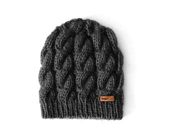 Cable Knit Slouchy Beanie Hat for Women   Several Colors