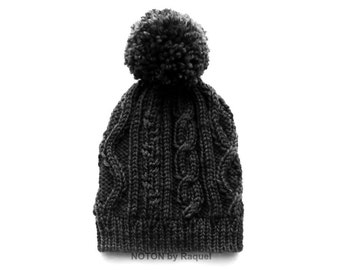 Pom Pom Winter Slouchy Knit Beanie Hat for Women   Several Colors