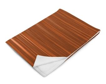 Brown Brush Strokes Throw Blanket