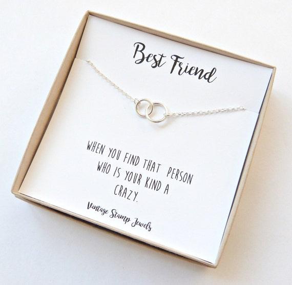 Selbstgemachtes Geschenk Für Beste Freundin : beste freundin geschenk ewigkeit goldkette silber kreis etsy ~ Watch28wear.com Haus und Dekorationen