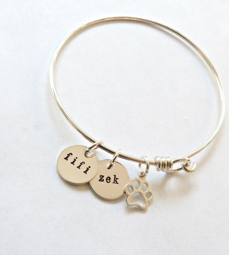 Custom Pet Jewelry, gift for her Cat Jewelry Pet Mom Pet Lover Gift wife gift Pet Memorial Jewelry Personalized Pet Bracelet
