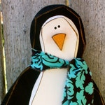 Winter Decor Wood Penguin | Carved Wooden Penguin Christmas Decoration | Winter Decoration | Christmas Gift Winter Gift Woodcraft Penguin