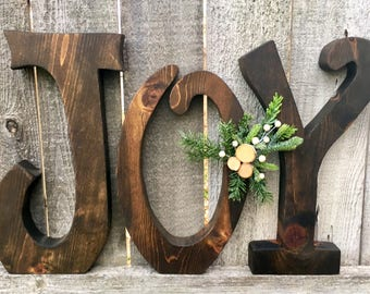 Christmas Decor Large Noel Wood Letters Christmas Decor Big Etsy