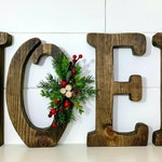 Christmas Decor Wood NOEL Letters Mantle Decor Christmas Decoration Art Rustic Natural Wooden Letters Noel Christmas Gift Holiday Decor Art