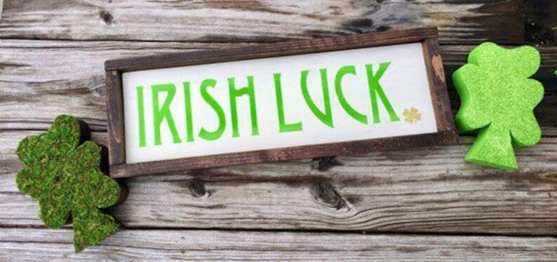 St. Patrick's Day Decor Irish Luck Wood Wall Art Sign image 0