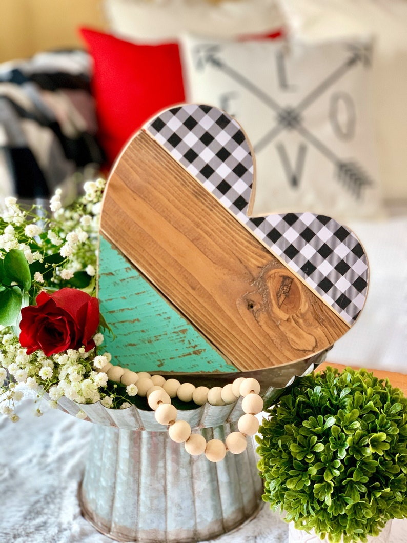 Gallery Wall Decor 10 Barn Wood Heart for Valentines Day image 0