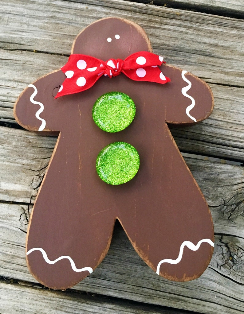 Christmas Decor Gingerbread Man Christmas Kitchen Decoration image 0