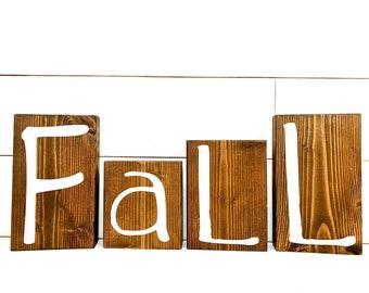 Fall Decor Wood Blocks