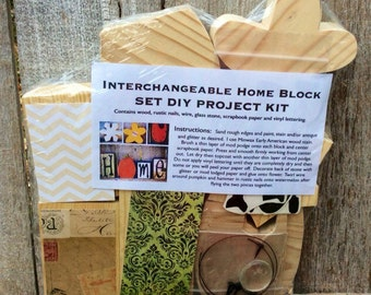 DIY Seasons Home Block Set Project Kit, DIY Project Kit for Interchangeable Seasons Home Set, DIY Seasons Block Set Supply Kit