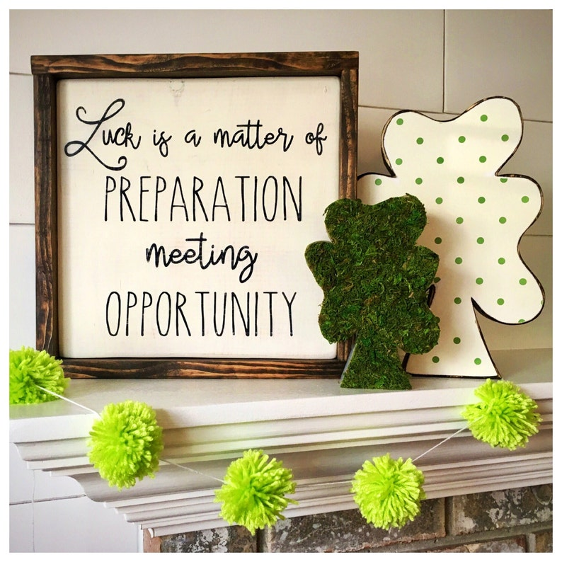 St. Patrick's Day Decor Wood Wall Art Lucky Wooden Sign image 0
