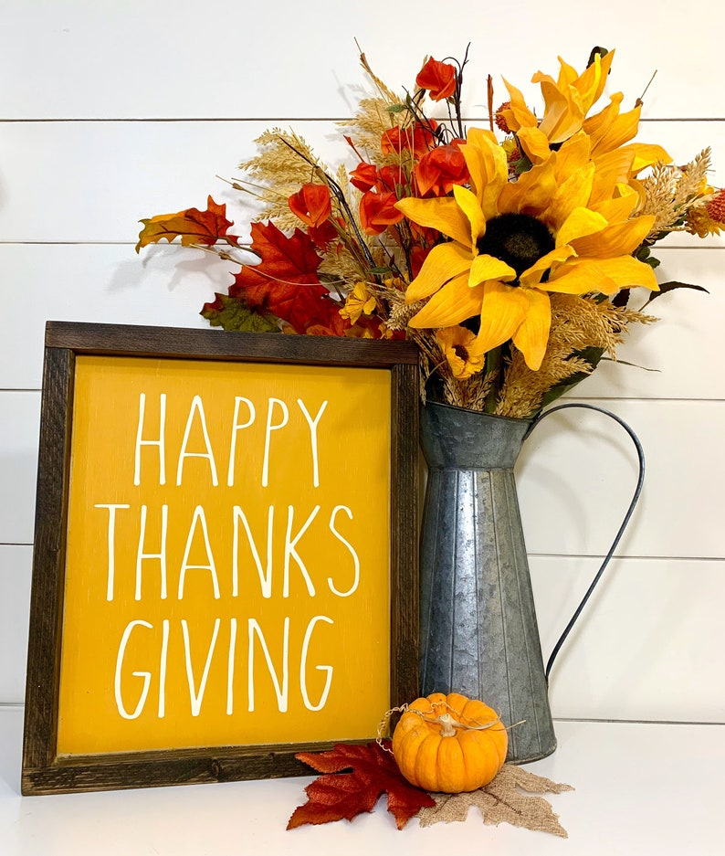 Thanksgiving Decor Happy Thanksgiving Wood Sign with Wooden image 0