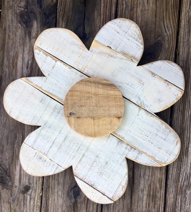 Wood Flower Rustic Wedding Decor Summer Decor Wooden Door image 0