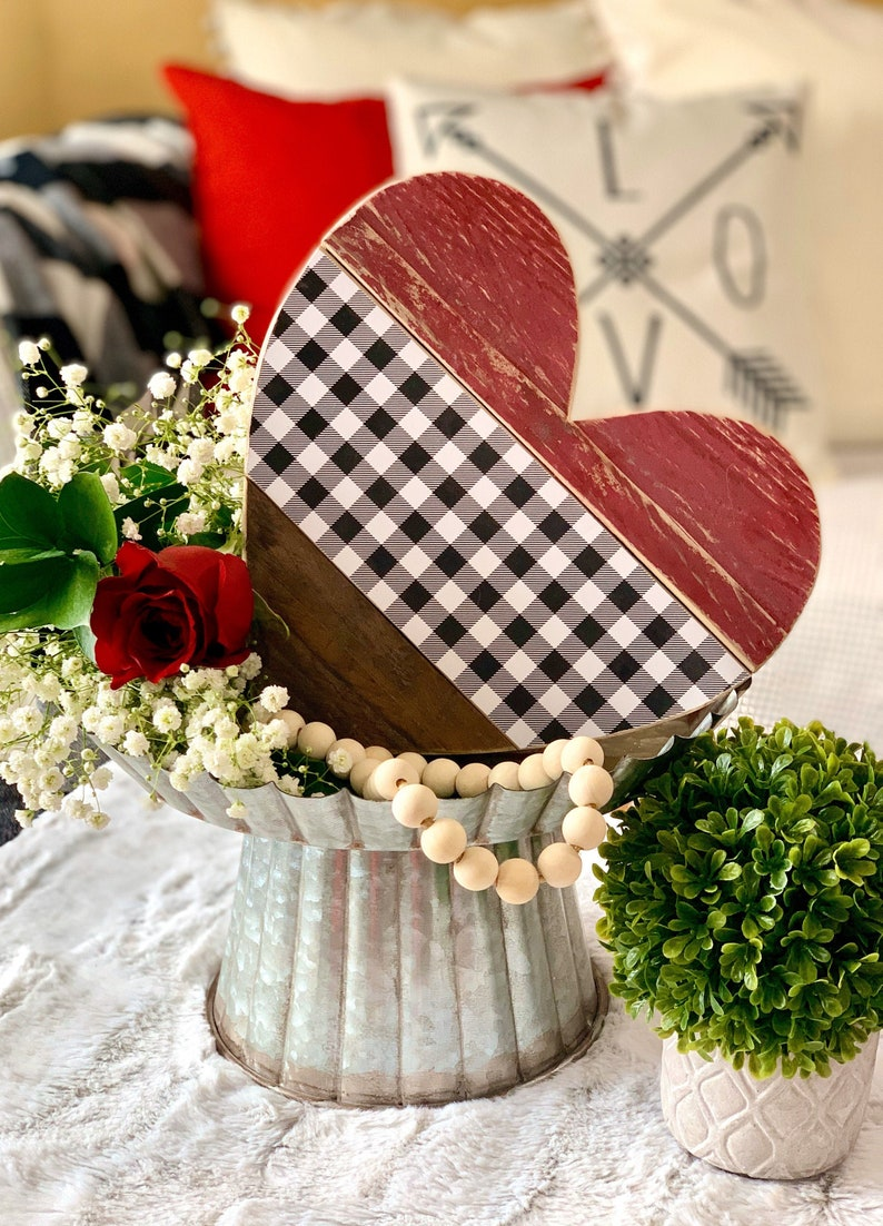 Valentines Day Decor and Gift 10 Barn Wood Heart.  Perfect image 0